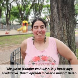 Belén - trabajadora de Alpad
